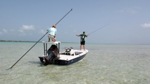 Fly fishing for bonefish Turks and Caicos