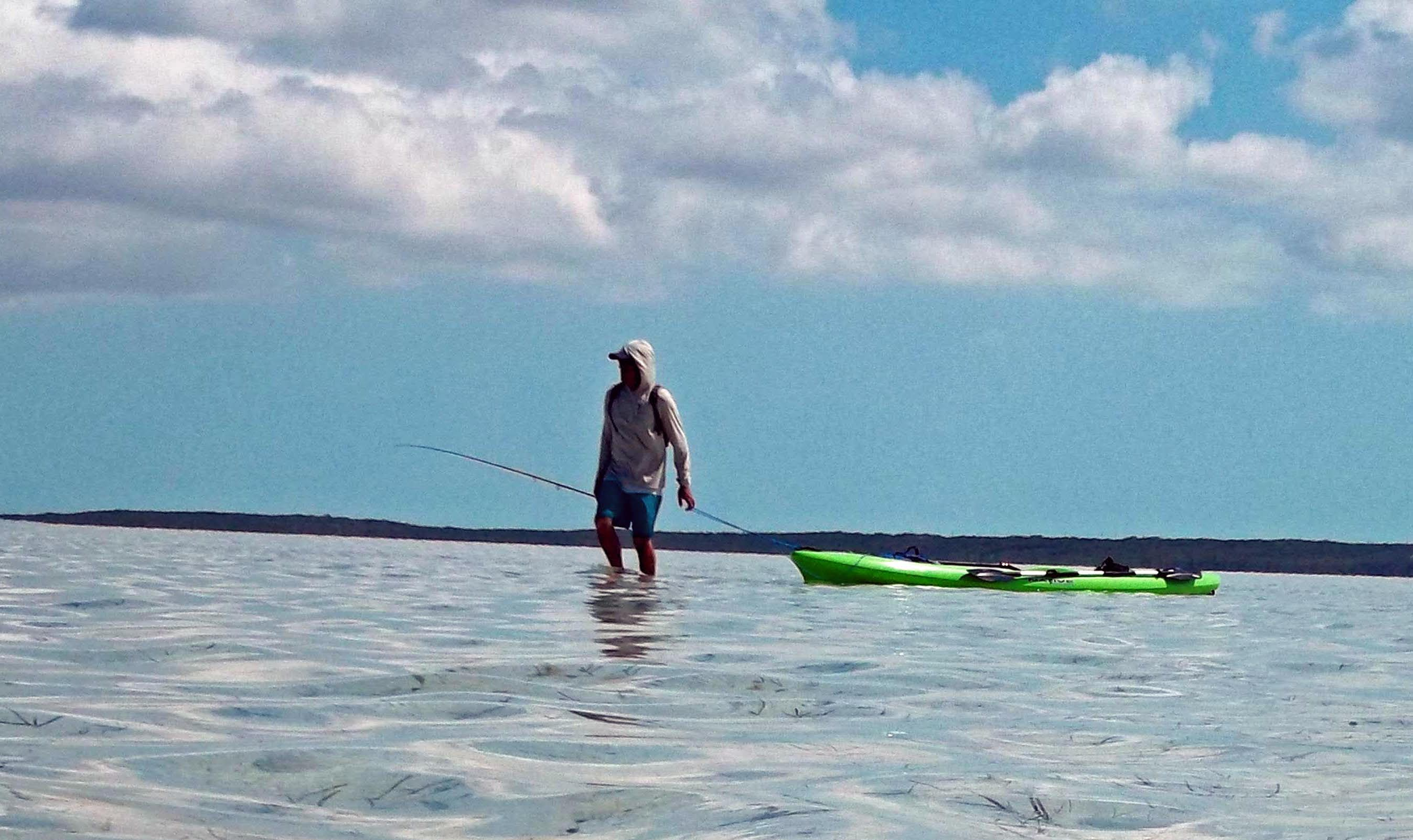 Wading for bonefish in the turks and caicos for Turks and caicos fishing